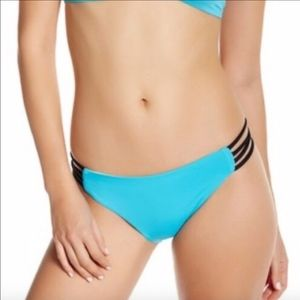 NEW L Space Colorblock Strappy Bikini Bottom Full